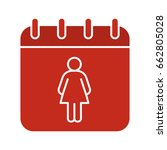 international women's day glyph ...   Shutterstock .eps vector #662805028