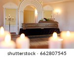 funeral and mourning concept  ... | Shutterstock . vector #662807545