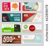 gift voucher certificate coupon ... | Shutterstock .eps vector #662808478