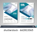 blue annual report brochure... | Shutterstock .eps vector #662813365
