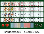 poker cards full set with... | Shutterstock .eps vector #662813422