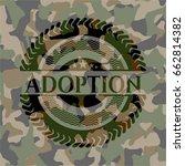 adoption camouflage emblem   Shutterstock .eps vector #662814382