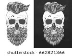 mexican skull design with... | Shutterstock .eps vector #662821366