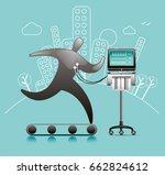 fitness check | Shutterstock .eps vector #662824612