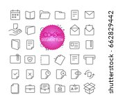 outline icon set. web and... | Shutterstock .eps vector #662829442