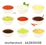 Set Of Different Dipping Sauces ...
