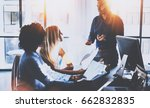 young team of coworkers making... | Shutterstock . vector #662832835