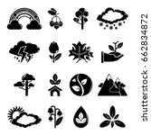 nature icons set symbols.... | Shutterstock . vector #662834872