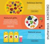 berries food banner horizontal... | Shutterstock . vector #662835082