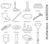 chemical laboratory tools icons ... | Shutterstock . vector #662835256