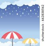 rainy season frame layout. rain ... | Shutterstock .eps vector #662838562