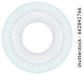 round guilloche pattern for... | Shutterstock .eps vector #662841766