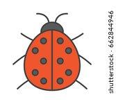 ladybug color icon. ladybird.... | Shutterstock .eps vector #662844946