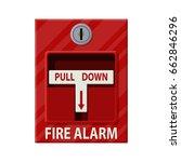 fire alarm system. fire... | Shutterstock .eps vector #662846296