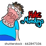hate mondays message | Shutterstock .eps vector #662847106