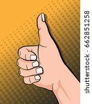 hand showing symbol like ... | Shutterstock .eps vector #662851258