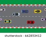 race start top view background... | Shutterstock .eps vector #662853412
