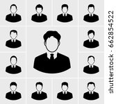 icons business man vector set | Shutterstock .eps vector #662854522