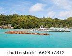 praslin marina and harbor in... | Shutterstock . vector #662857312