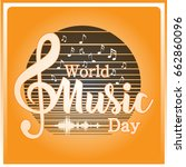 world music day | Shutterstock .eps vector #662860096