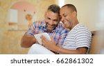 homosexual couple  hispanic gay ... | Shutterstock . vector #662861302