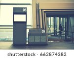 boarding gate entrance with... | Shutterstock . vector #662874382