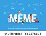 meme concept vector...   Shutterstock .eps vector #662876875