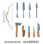 cold steel arms set with color... | Shutterstock .eps vector #662880835