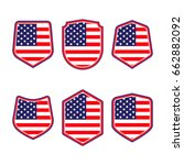 united states of america shield....   Shutterstock .eps vector #662882092