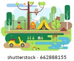 vector flat illustration of... | Shutterstock .eps vector #662888155