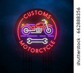 customs motorcycle sign. city... | Shutterstock .eps vector #662888356