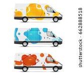 set of branding design... | Shutterstock .eps vector #662888518