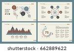 four logistics slide templates... | Shutterstock .eps vector #662889622
