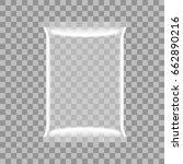 transparent food snack plastic... | Shutterstock .eps vector #662890216