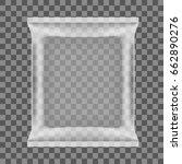 transparent food snack plastic...   Shutterstock .eps vector #662890276