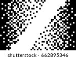 black and white pixel art. ... | Shutterstock .eps vector #662895346
