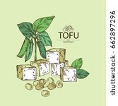 background with soybean tofu ...