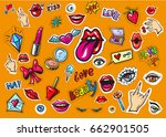 vector collection set with pop...   Shutterstock .eps vector #662901505