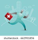emergency medical care | Shutterstock .eps vector #662901856