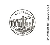 vintage vector round label.... | Shutterstock .eps vector #662904715