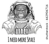 gorilla  monkey  ape frightful...   Shutterstock . vector #662906716