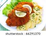 Wiener Schnitzel With Potato...
