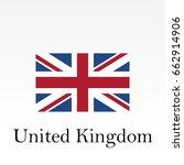 united kingdom flag. great... | Shutterstock .eps vector #662914906