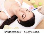 hands of cosmetologist making...   Shutterstock . vector #662918356