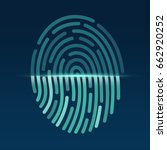 fingerprint. id app icon.... | Shutterstock .eps vector #662920252