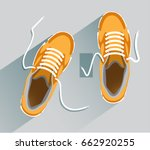 sneakers. sneakers in flat... | Shutterstock .eps vector #662920255