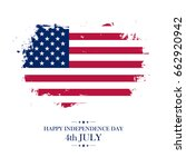 usa happy independence day... | Shutterstock .eps vector #662920942