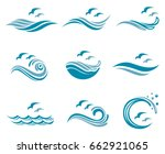 collection of ocean logo with... | Shutterstock .eps vector #662921065