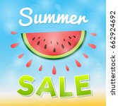 summer sale   sunny concept... | Shutterstock .eps vector #662924692