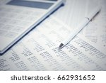 financial accounting. pen and... | Shutterstock . vector #662931652